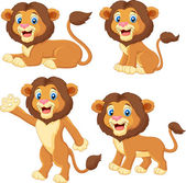 Cartoon lion collection set — Wektor stockowy