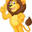 Cute cartoon lion giving thumb up — Stock Vector #63456449
