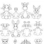 Cartoon Farm animal coloring book — Stock Vector #63456913