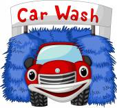 Automatic car wash cartoon — Stock Vector
