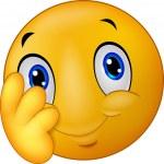 Shy emoticon smiley cartoon — Stock Vector #63462875