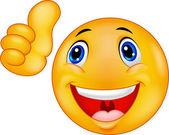 Happy Smiley Emoticon cartoon Face — Stock Vector