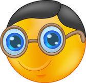 Cartoon Smiley Wearing Glasses — Vettoriale Stock