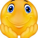 Thinking emoticon smiley cartoon — Stock Vector #63507359