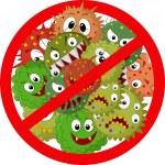 Cartoon Stop virus — Stock Vector #63507677