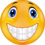 Happy smiley face cartoon — Stock Vector