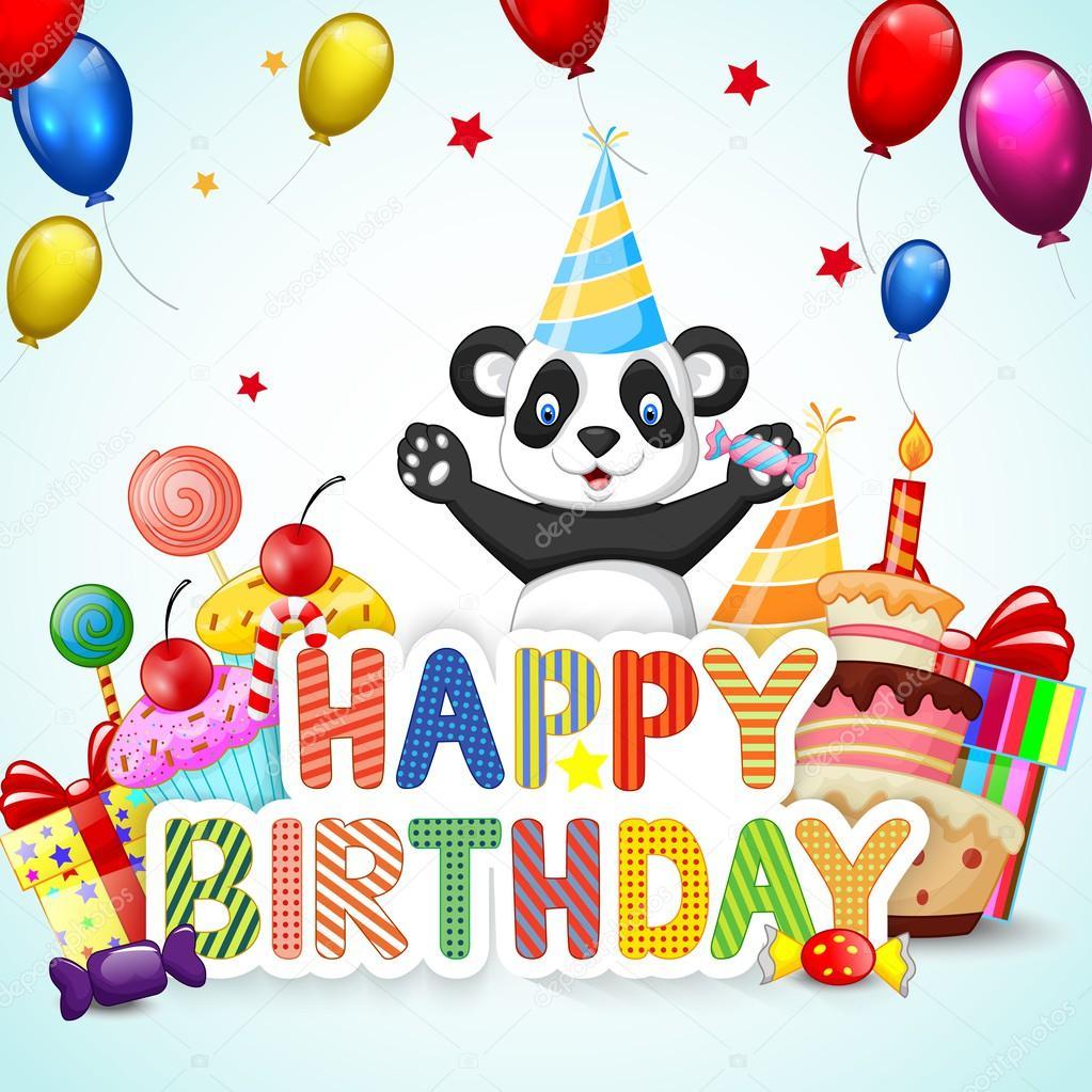 Поздравление с днем рождения с пандой