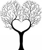Tree branches in shape of heart — Stock Vector