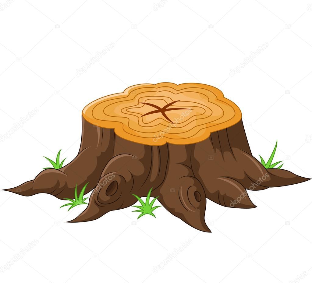 Souche darbre de dessin anim image vectorielle tigatelu 65406779 - Souche d arbre decorative ...