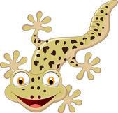 Cartoon smiling gecko — Vecteur