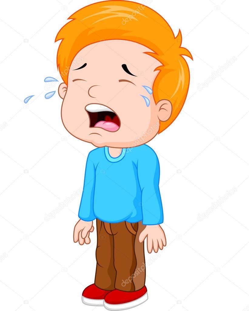 卡通哭的小男孩 — 图库矢量图像08