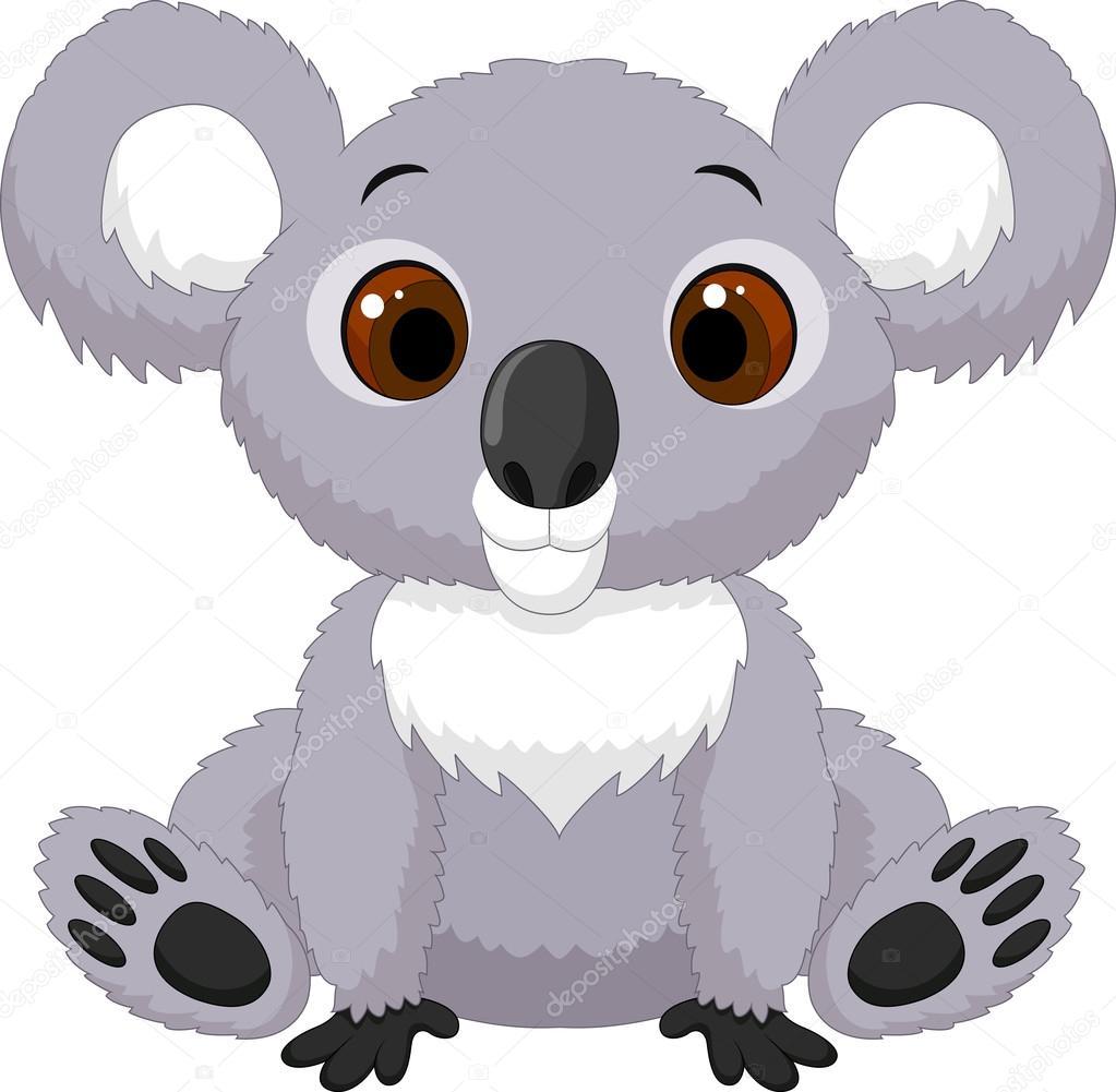 koala de dibujos animados lindo sentado vector de stock 67088781 depositphotos koala bear clipart outline koala bear face clipart