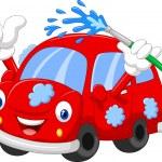 Cartoon car giving thumb up — Stock Vector #72458129