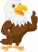 Eagle cartoon giving thumb up — Stock Vector