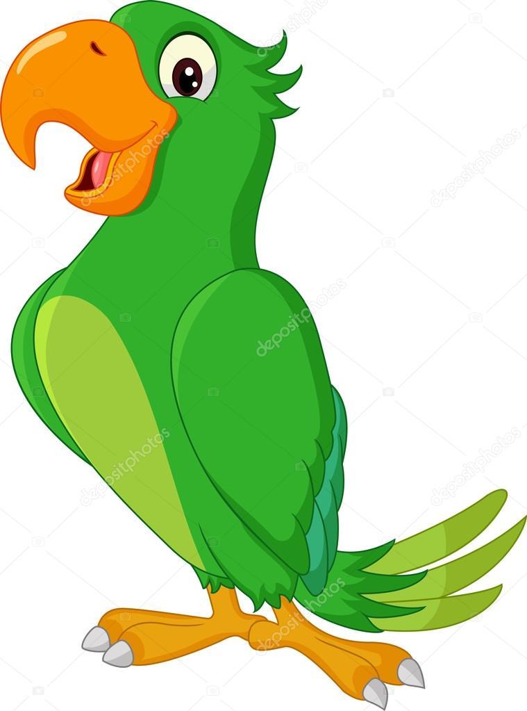 卡通可爱的鹦鹉 — 图库矢量图像08