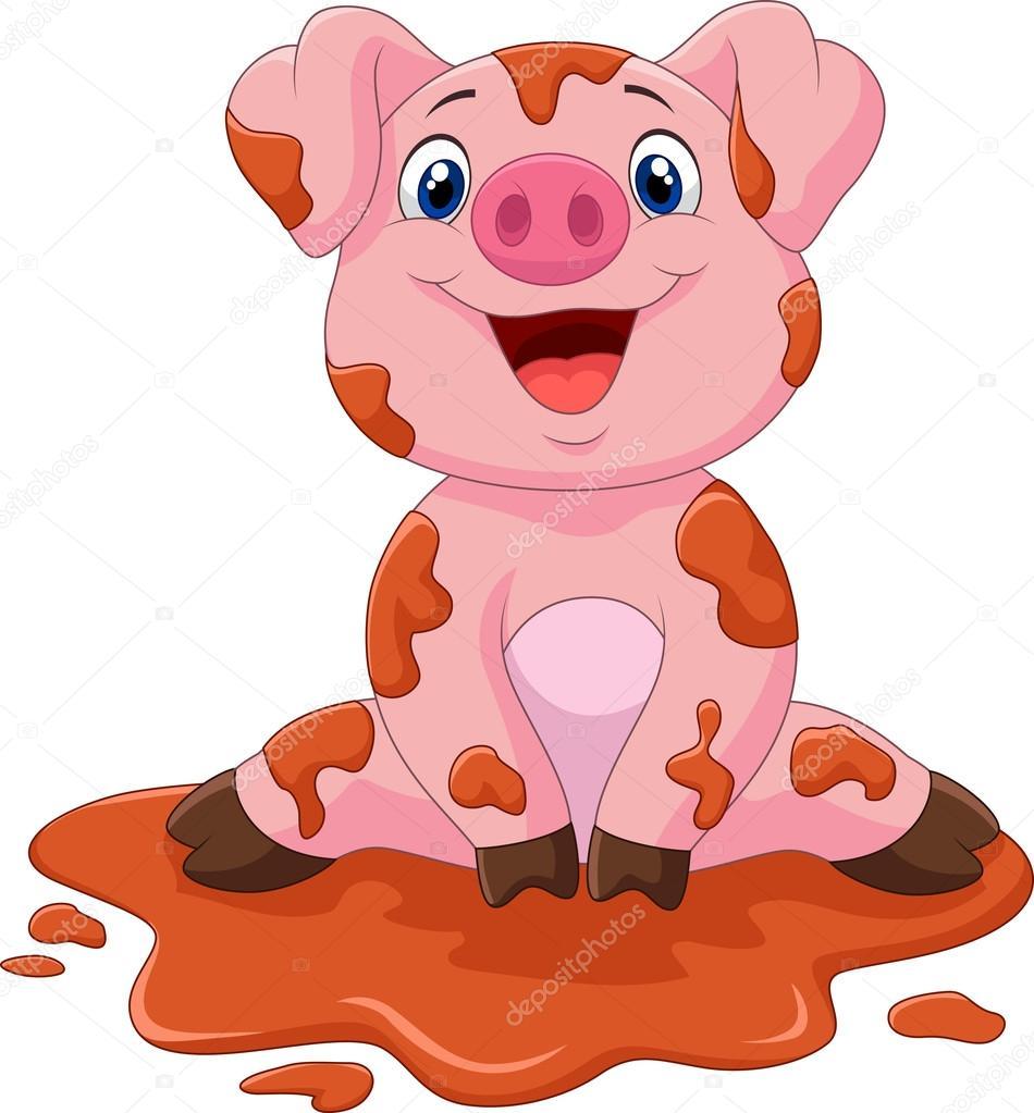 Dessin anim b b mignon cochon image vectorielle - Dessin cochon mignon ...
