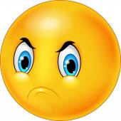 Angry emoticon cartoon — Stock Vector