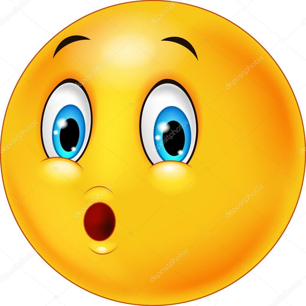 Surprised emoticon face cartoon — Stock Vector © tigatelu ...