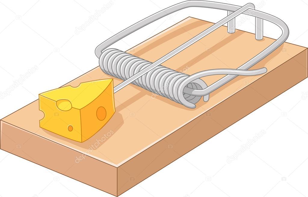 Queijo de gra a dos desenhos animados em uma ratoeira vetores de stock tigatelu 88856048 - Trampas para ratones de campo ...