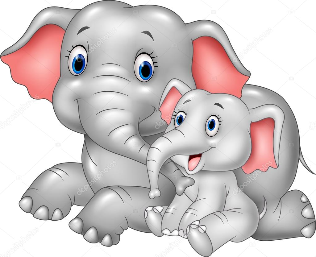 Amazoncom Wallmonkeys Cute Baby Elephant Cartoon Wall