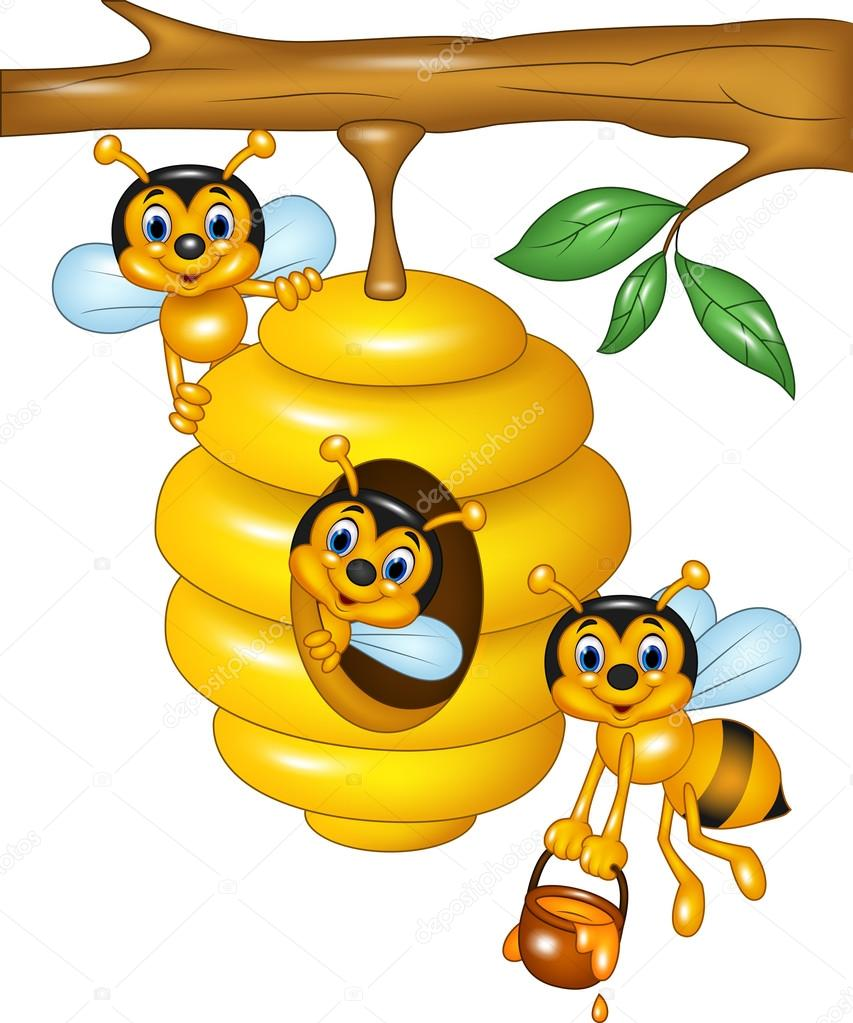 ilustraci u00f3n de la rama de un  u00e1rbol con una colmena y las beehive clipart images bee hive clip art free download