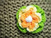 Gebreide bloem — Foto de Stock