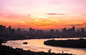 River view sunrise in the lovely morning — Foto Stock