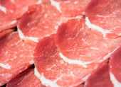 Raw meat slices — Stock Photo