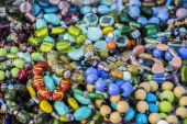 Various beads on sale — Stock Photo