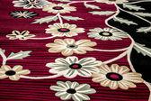 Floral carpet rug — Stock Photo