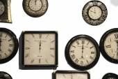 Different wall clocks — Stock Photo
