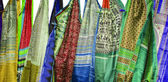 Sarees on sale — Stock Photo