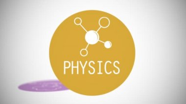 Various branches of science in dynamic — Stock Video