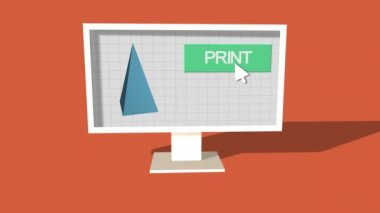 Simple Animation of Printing on 3D Printer. — Stock Video