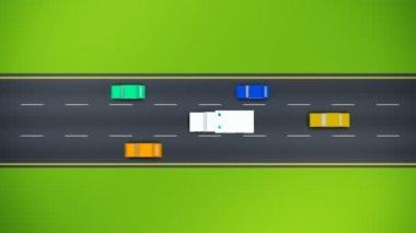 Krankenwagen auf der Straße zu beschleunigen — Stockvideo