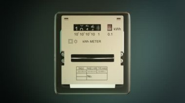 Analog electric meter with transparent plastic case — Stock Video