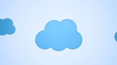 Concept of cloud computing — Stock Video