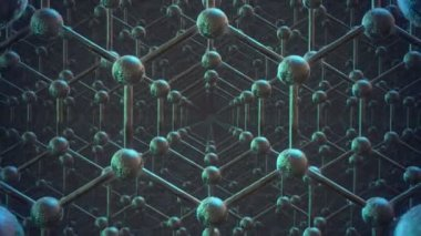 Animation of the graphene structure — Stock Video