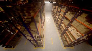 Warehouse interior 3d — Stock Video