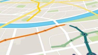 Gps Navigation Of Metro Transportation — Stock Video