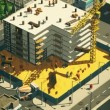 Construction Of Building In Modern City — Stock Video #78495948