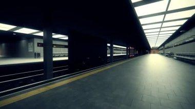 地下鉄の駅に到着 — ストックビデオ