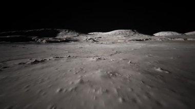Seamless Textured Of Moon's Surface — Stock Video