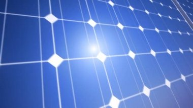 Solar blue shiny panel — Stock Video