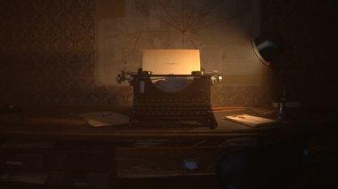 Глава 1, написанные на старая пишущая машинка — Стоковое видео