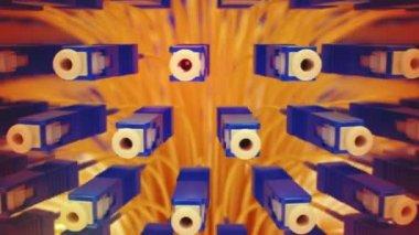 Animation of fiber optics — Stock Video