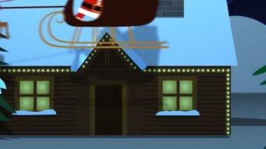 サンタ クロースの贈り物のスタックと — ストックビデオ