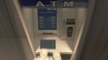 Automated teller machine — Stock Video