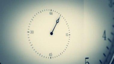 Animation of modern clock. — Stock Video