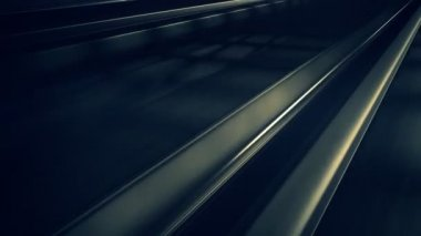 Demiryolu metro Tüneli'nde — Stok video